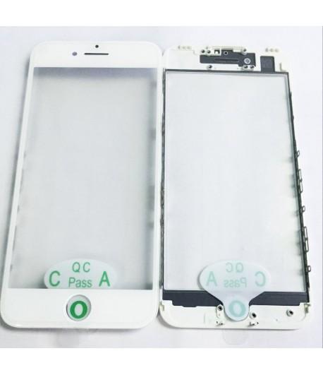 """Soczewka z szybką, ramką i naklejką OCA na iPhone 7 - 4.7 """" - Biały"""