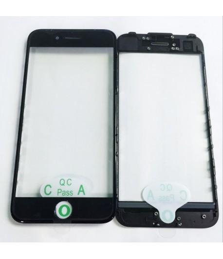 """Soczewka z szybką, ramką i naklejką OCA na iPhone 7 - 4.7 """" - Czarny"""