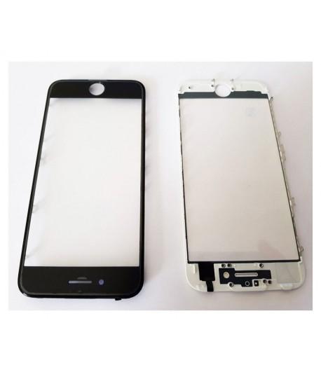"""Soczewka z szybką, ramką i naklejką OCA na iPhone 8 - 4.7 """" - Czarny"""